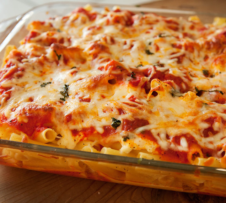 Meatless Mondays | Baked Ziti with Three Cheeses