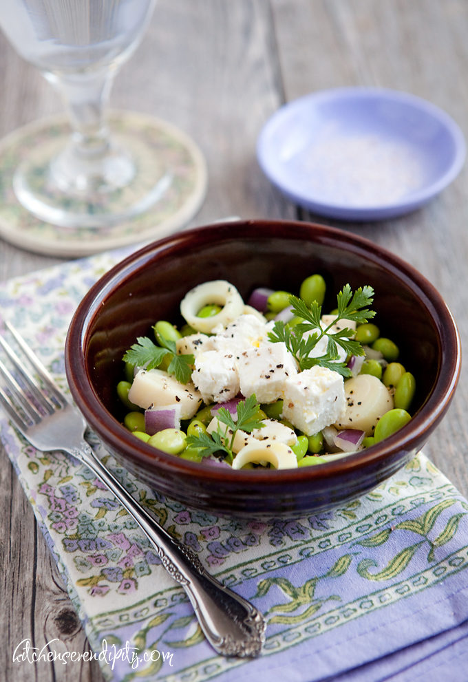 Edamame, Hearts of Palm, and Feta Salad (aka The Salad Bar Salad)