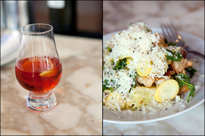Bulleit_Rye_Sazerac_and_lunch_blog_board